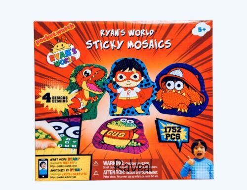 Ryan/'s World Sticky Mosaics Play Game Set 4 Designs 1752 Pieces