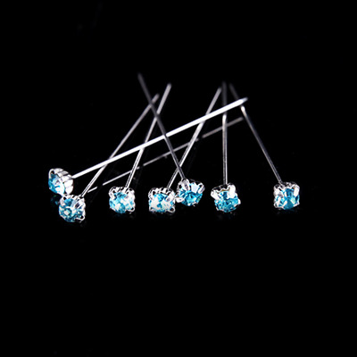 12 36 or 72 4cm Turquoise Quality Diamante Pins Luxury Crystal Diamonte 1.5 4mm