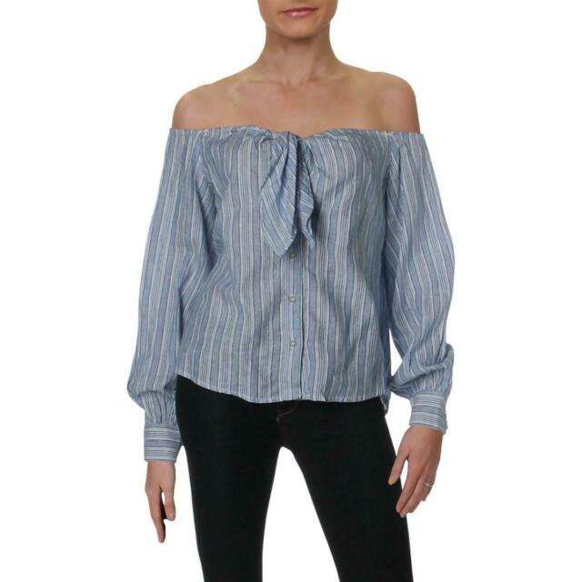 Free People Womens Hello There Beautiful Striped Pullover Top Shirt BHFO 3157
