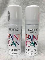Nails Inc. Paint Can Spray On Nail Polish Pink Silver