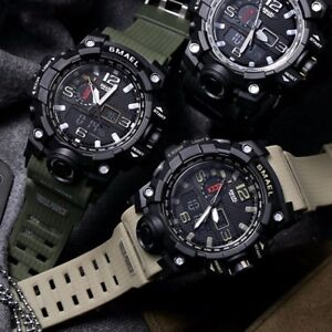 SMAEL-Men-039-s-Military-Sport-Wrist-Watch-Quartz-Dual-Movement-with-Analog-Digital