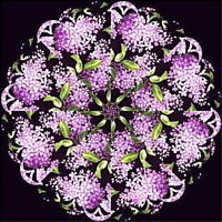Fragrant Lilacs Kaleidoscope Quilt Blocks Kit Lilac