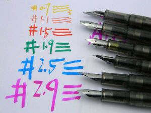 gift matte black student Duckbill parallel tip Bold calligraphy Fountain Pen