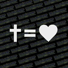 Cars Etc. Diamond Graphics Faith Hope Love Die Cut Decal Bumper Sticker for Windows Trucks Gold, 6 x 4