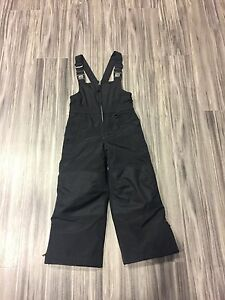girls boys kids squall ski snowboard bib pants lands end black size 4