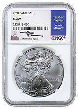 2008 American Silver Eagle NGC MS69 (Mercanti Signed Label) SKU40908