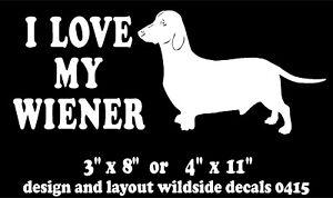DACHSHUND Vinyl Decal Sticker Car Window Wall Bumper Funny Cute Wiener Dog Love
