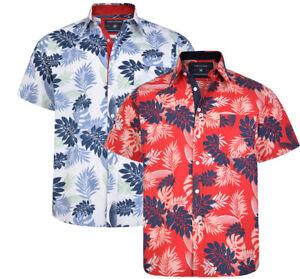 Mens-KAM-Poly-Cotton-Floral-Hawaiian-Short-Sleeve-Shirt-Casual-Big-Size-2-8XL