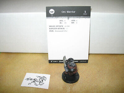D&d Dungeons & Dragons Harbinger Orc Warrior With Card 75/80 We Take Customers As Our Gods Miniatures, War Games