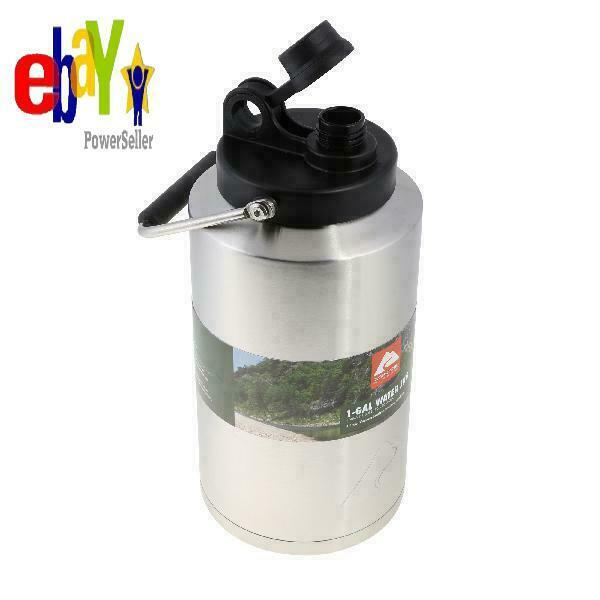 Ozark Trail 1 Gallon Double Wall Vacuum Insulated Stainless Steel Water Jug
