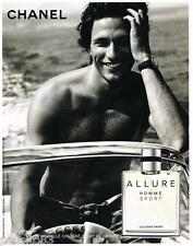 PUBLICITE ADVERTISING 095  2007  CHANEL  eau de Cologne ALLURE SPORT homme 2