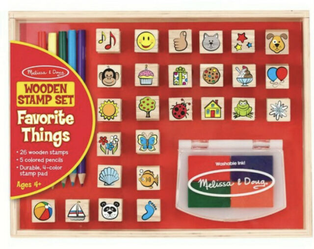 Melissa & Doug Wooden Stamp Set Favourite Things