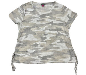 Vince Camuto Women's Top Camouflage Lace Up Sides Size XL
