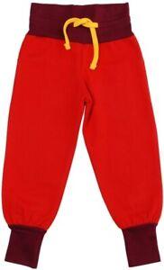 * Nouveau * - Duns Sweden-en Coton Rouge Unisexe Pantalon-taille 7-8y/128 Cm-afficher Le Titre D'origine