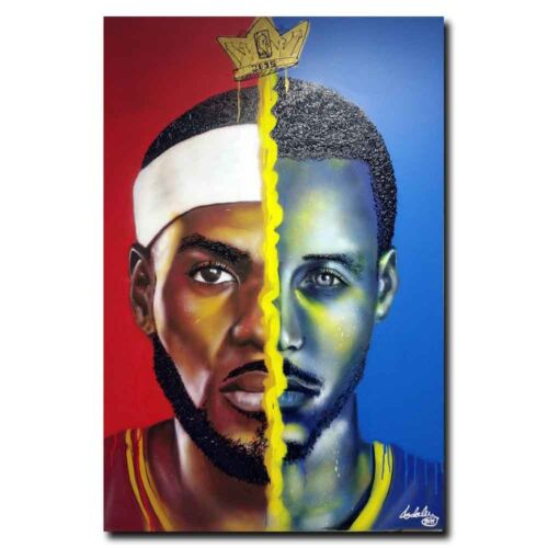 LeBron James Steph Curry 12x18 24x36inch Sports Silk Poster Art Print Cool Gifts