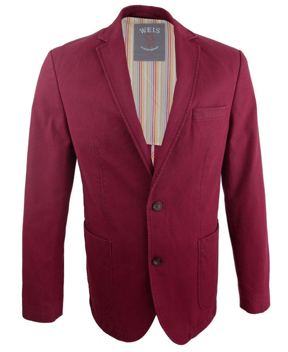 Gebr. Weis Sakko Stretch Modern Fashion in weinrot Gr. 50 52 58 60