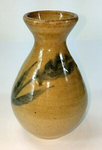 Dunn-County-Pottery-Stamped-Marked-Glazed-Floral-Vase