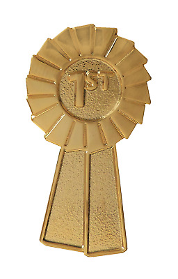 1st Place Gold Rosette Award Pin Badge For Schools