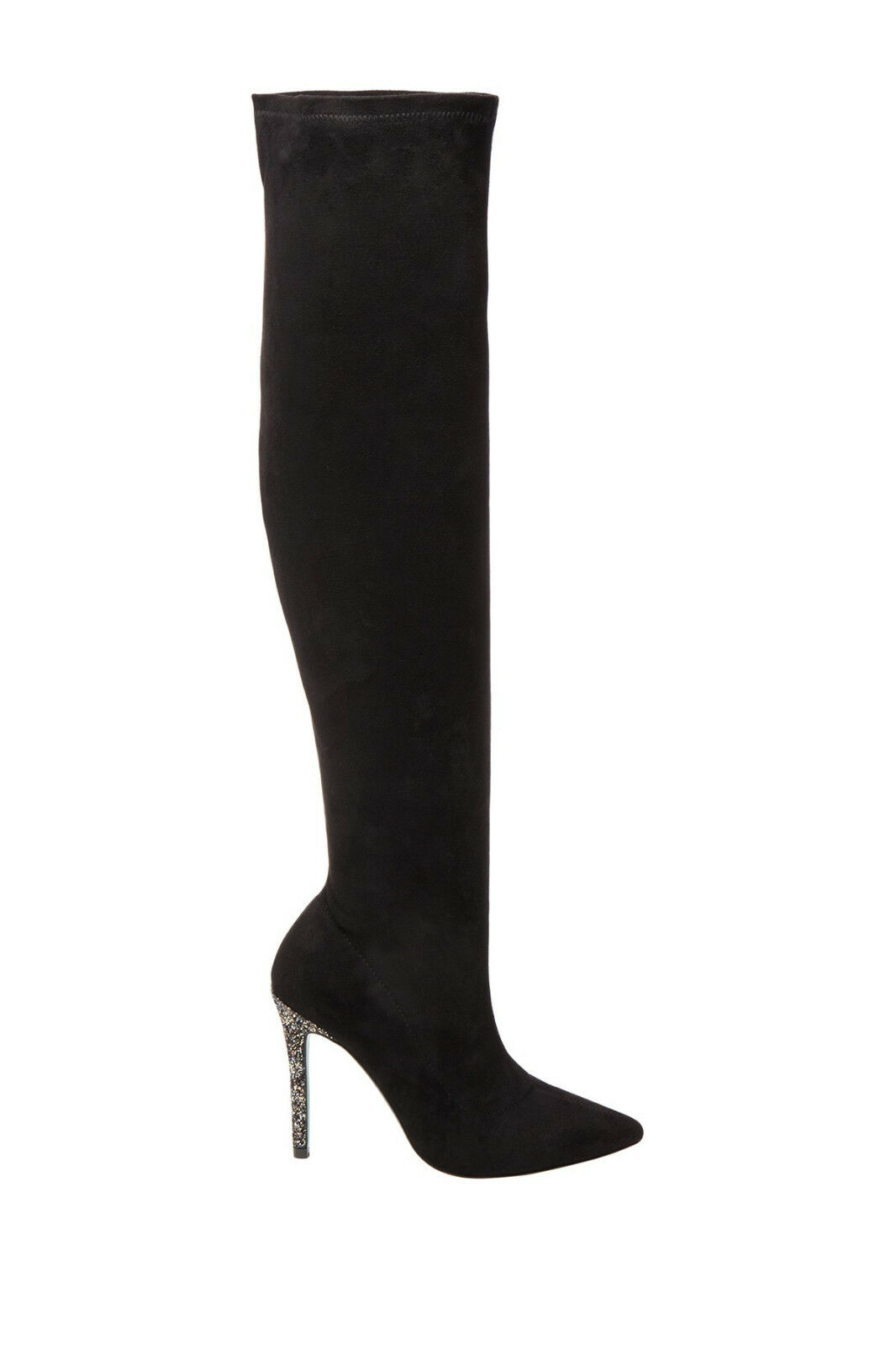 NEW BETSEY THE JOHNSON BLACK ZURI OVER THE BETSEY KNEE BOOTS SHOES SZ 6.5 4b4536