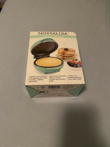 Nostalgia My Mini Personal Electric Griddle Teal Adorable