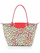 LONGCHAMP Coral Panther Print Limited Edition Pink Multi Bag Handbag NEW