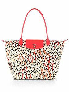 Image is loading LONGCHAMP-Coral-Panther-Print-Limited-Edition-Pink-Multi- 6e0cd15360ec1