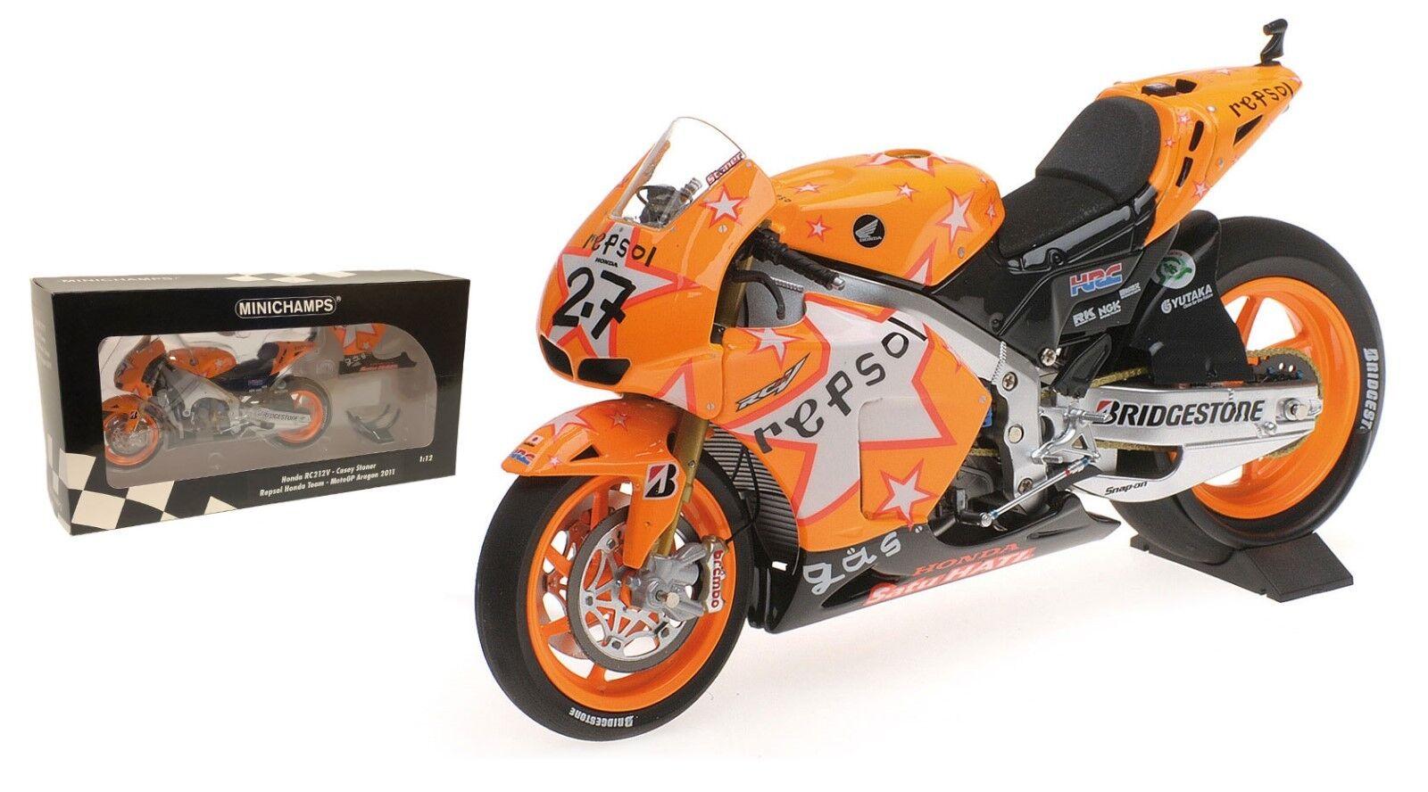 Minichamps Honda RC212V Winner Aragon MotoGP 2011 - Casey Stoner 1 12 Scale
