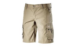 Bermuda-Wonder-Diadora-pantaloncini-cargo-da-lavoro-pantaloni-corti-beige-tg-XL