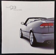 Saab 93 Convertible Brochure 2002 - June 2001 Issue