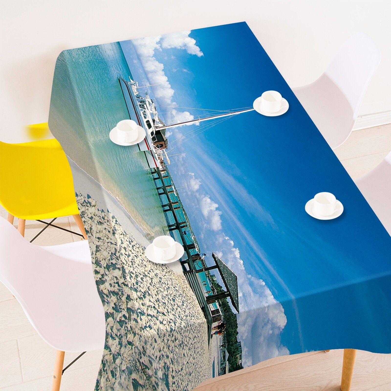 3D Beach 55 Nappe Table Cover Cloth fête d'anniversaire AJ papier peint Royaume-Uni Citron