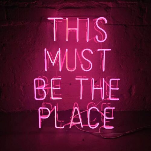 """New This Must Be The Place Light Lamp Decor Acrylic Neon Sign 19/"""""""