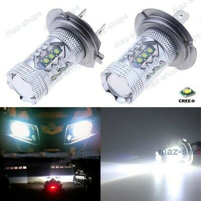 2Pcs H7 80W Cree White LED Headlights Bulbs Lights For BMW K1200S 2005-2008