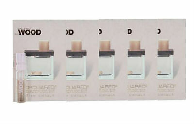 DSQUARED2 SHE WOOD for Women by DSQUARED2 EDP Vial Spray 0.05 oz-  LOT OF 5