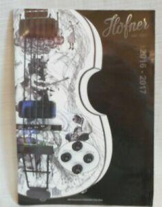 Guitare Hofner 2016-2017 60 Page Couleur Catalogue En Allemand Et Anglais-afficher Le Titre D'origine