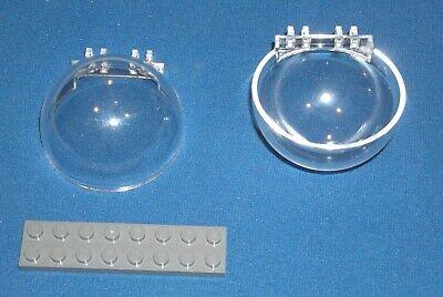 Lego 6x6x3 Windscreen Canopy Half Sphere Transparent Light Blue Lot of 2 NEW