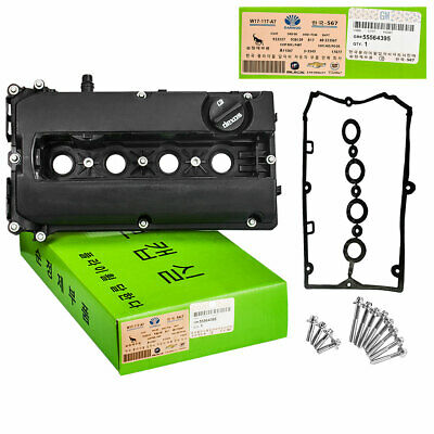 Engine Valve Cover Camshaft Rocker Cover,Bolts /& 2Gaskets replacement for Chevrolet Cruze Aveo # 55564395 55558673