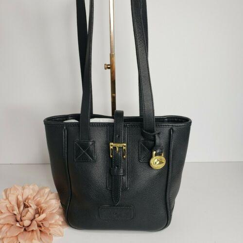 Dooney & Bourke Vintage Black Leather Bucket Bag