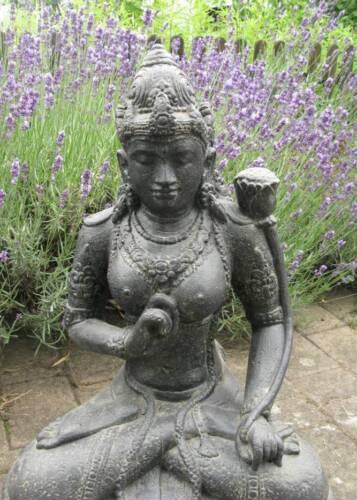 shiva devi tara indonesien lavastein skulptur statue feng shui, Terrassen ideen
