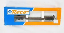 Vintage Roco HO Scale Train Brown New York Flat Bed Depressed Car w/ Box
