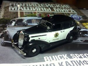Details about 1:43 Buick Special Police California USA Police cars of the  world + Magazine #32