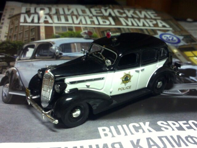 1:43 Buick Special Police California USA Police cars of the world + Magazine #32