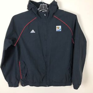 Adidas Jacket Mens Size 2XL Black Fifa World Cup 2010 Hooded Full ... f1a3345d1ab