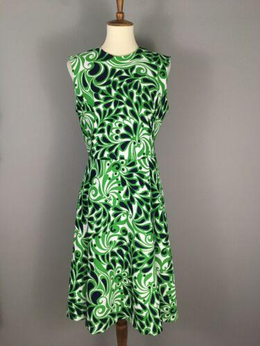 VTG Marjorie Montgomery 60s 70s Retro Mod Floral D