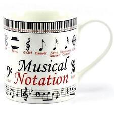 Notación musical educativo Taza de Porcelana Fina En Caja De Regalo