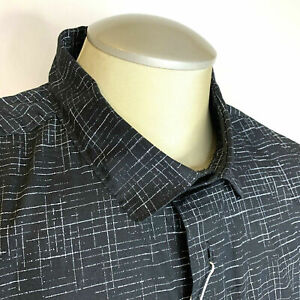 IKE-Behar-Mens-Shirt-Stretch-Black-Stylish-XL-Button-Up-Long-Sleeve-95-New