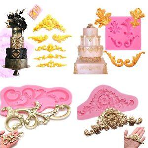 Baroque-Scrolls-Silicone-Fondant-Mold-Cake-Border-Decor-Chocolate-Baking-Tool