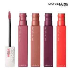 MAYBELLINE-Super-permanecer-Mate-Tinta-Liquido-Lapiz-Labial-Brillo-De-Labios-5ml-Nuevo