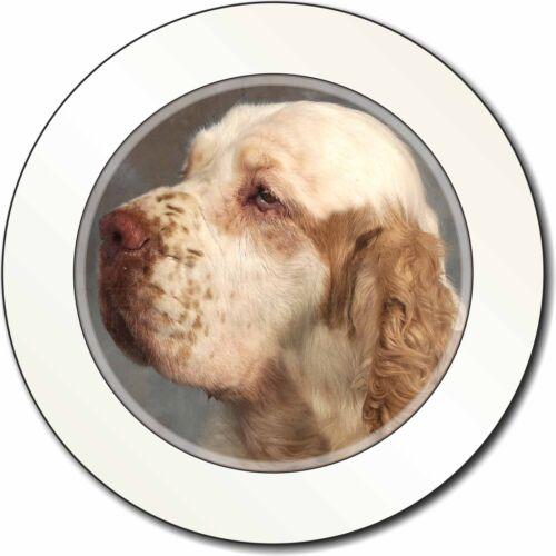 Clumber Spaniel Dog Car/Van Permit Holder/Tax Disc Gift, AD-CS1T
