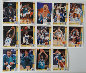 1991-92-Upper-Deck-Charlotte-Hornets-Team-Set-Of-19-Basketball-Cards