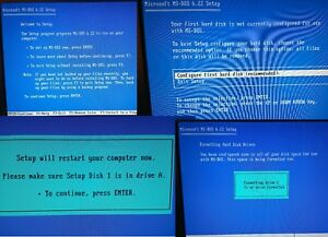 Details about MS-DOS 6 22 install & Boot Disks on 1 44 MB HD Diskettes &  Games  Retro Computer